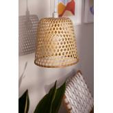 Plafondlamp in rotan (Ø30 cm) Kalde, miniatuur afbeelding 1
