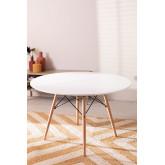 MDF Brich Scand tafel Ø120, miniatuur afbeelding 2