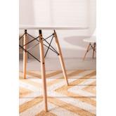 MDF Brich Scand tafel Ø120, miniatuur afbeelding 3