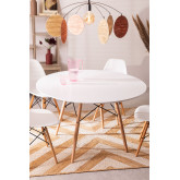 MDF Brich Scand tafel Ø120, miniatuur afbeelding 1