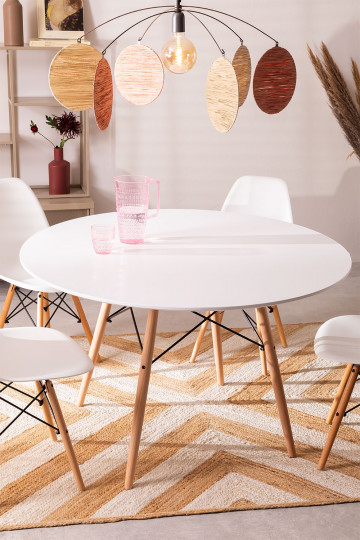 MDF Brich Scand tafel Ø120