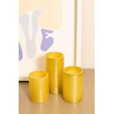 Pack de 3 Velas Color Dorado Special Flame
