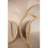 Yiro houten ronde spiegel, miniatuur afbeelding 6