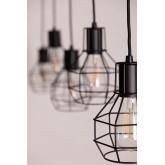 Metalen plafondlamp Ivan, miniatuur afbeelding 4