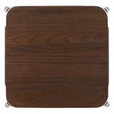 Hoge kruk in staal LIX geborsteld hout, miniatuur afbeelding 3
