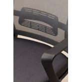 Teill Black zwarte bureaustoel met wielen en hoofdsteun , miniatuur afbeelding 5