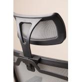 Teill Black zwarte bureaustoel met wielen en hoofdsteun , miniatuur afbeelding 6