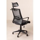 Teill Black zwarte bureaustoel met wielen en hoofdsteun , miniatuur afbeelding 4