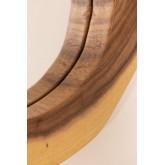 Ronde wandspiegel in hout (33,5x30,5 cm) Vrao, miniatuur afbeelding 4