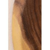 Ronde wandspiegel in hout (33,5x30,5 cm) Vrao, miniatuur afbeelding 5