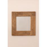 Wandspiegel van gerecycled hout (50x50 cm) Taipu, miniatuur afbeelding 3