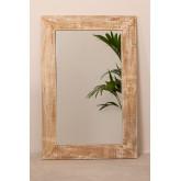 Rechthoekige wandspiegel in hout (120x80 cm) Vuipo, miniatuur afbeelding 3