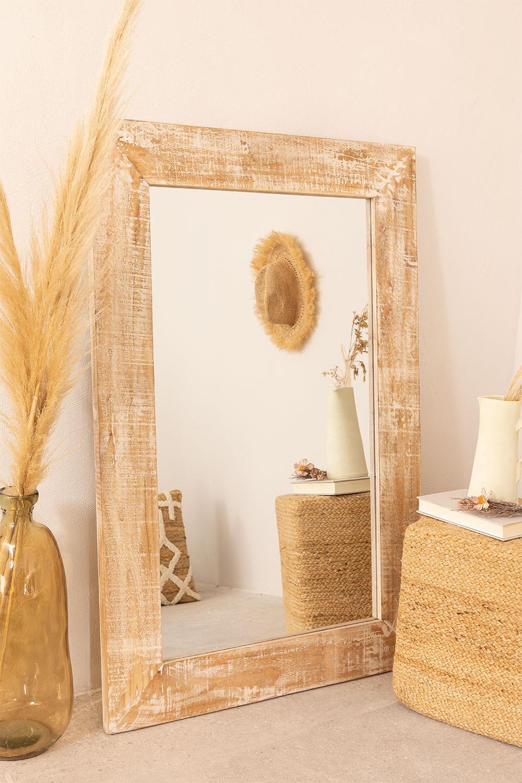 Rechthoekige wandspiegel in hout (120x80 cm) Vuipo, galerij beeld 1