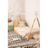 Houten bed voor matras 90 cm Typi Kids, miniatuur afbeelding 1