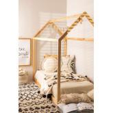 Houten bed voor matras 90 cm Obbit Kids, miniatuur afbeelding 1