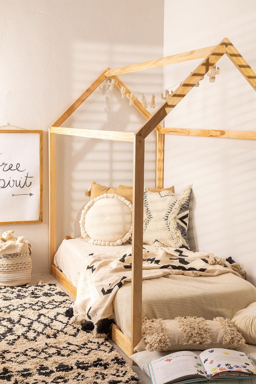 Houten bed voor matras 90 cm Obbit Kids, galerij beeld 1