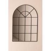 Wandspiegel in metalen raameffect (135x92 cm) Paola, miniatuur afbeelding 3