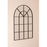 Wandspiegel in metalen raameffect (135x92 cm) Paola, miniatuur afbeelding 2