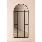 Wandspiegel in metalen raameffect (180x80 cm) Diana, miniatuur afbeelding 3