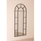 Wandspiegel in metalen raameffect (180x80 cm) Diana, miniatuur afbeelding 2