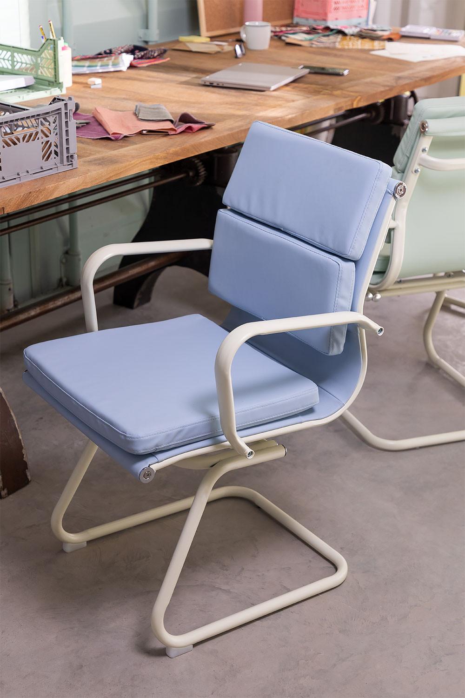 Bureaustoel met armleuningen Mina Colors, galerij beeld 1