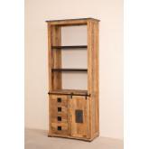 Uain houten kast met vier lades, miniatuur afbeelding 2