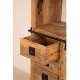 Uain houten kast met vier lades, miniatuur afbeelding 4