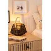 Tish gevlochten papieren tafellamp, miniatuur afbeelding 2