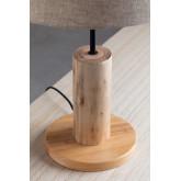Tafellamp in linnen en hout Ulga, miniatuur afbeelding 4