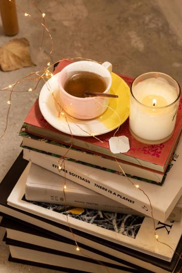 Koffiekop met bordje Tracya