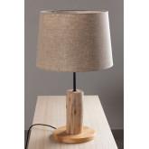 Tafellamp in linnen en hout Ulga, miniatuur afbeelding 2