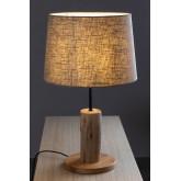 Tafellamp in linnen en hout Ulga, miniatuur afbeelding 3