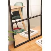 Wandspiegel in metalen raameffect (135x92 cm) Paola, miniatuur afbeelding 5