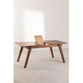 Uitschuifbare eettafel in notenhout (150-180x90 cm) Aliz, miniatuur afbeelding 4
