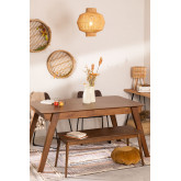 Uitschuifbare eettafel in notenhout (150-180x90 cm) Aliz, miniatuur afbeelding 1
