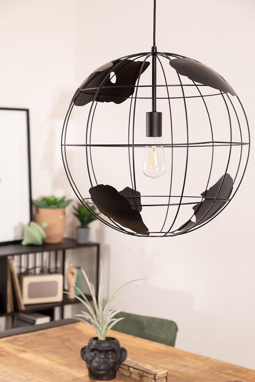 Plafondlamp in metaal Mundi, galerij beeld 1