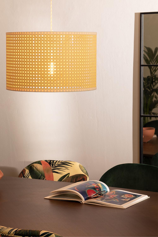 Plafondlamp in rotan sety, galerij beeld 1