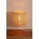 Tafellamp in rotan en metalen Muit, miniatuur afbeelding 3