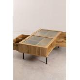 Salontafel in MDF en Ipek-glas, miniatuur afbeelding 3