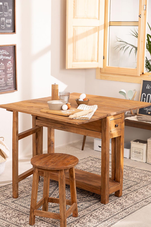 Abura Recycled Wood klaptafel, galerij beeld 1