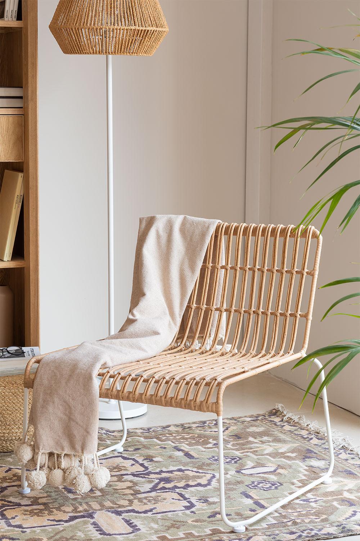 Aroa fauteuil van synthetisch rotan, galerij beeld 1