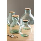 Madox helder gerecyclede glazen pot, miniatuur afbeelding 1