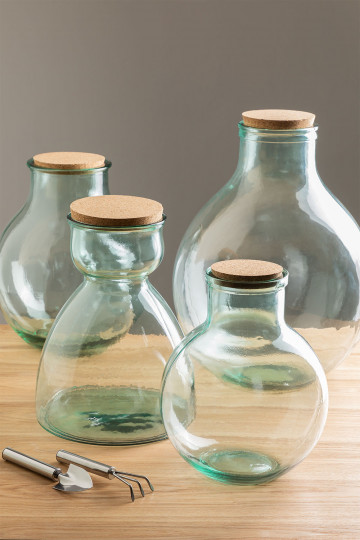 Madox helder gerecyclede glazen pot