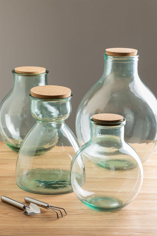 Madox helder gerecyclede glazen pot, galerij beeld 1