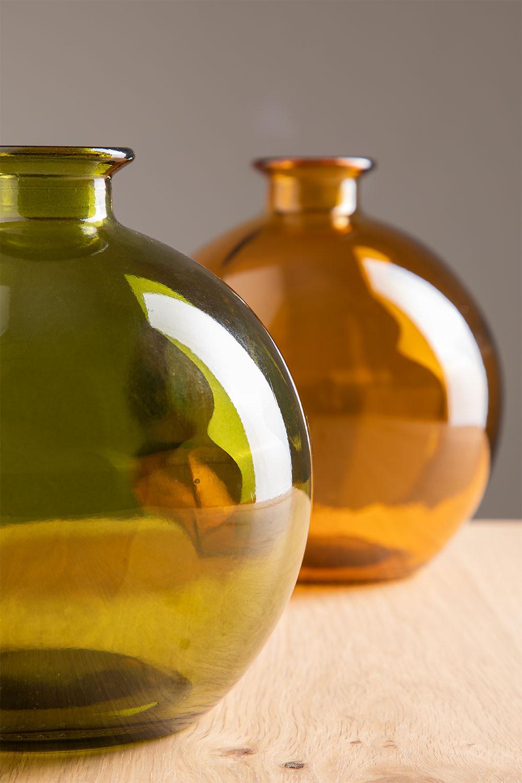 Gerecyclede glazen vaas Kimma, galerij beeld 1