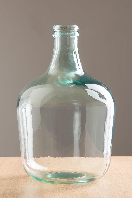 Demijohn in krik van gerecycled transparant glas, galerij beeld 1