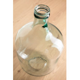 Demijohn in krik van gerecycled transparant glas, miniatuur afbeelding 2