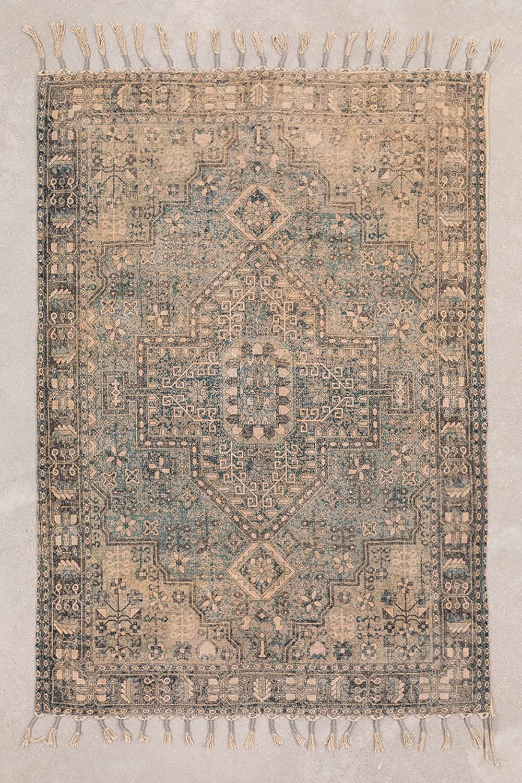 Tapijt van katoen Chenille (185x125 cm) Eli, galerij beeld 1