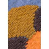 Kussenhoes van katoen en jute, Zinnie, miniatuur afbeelding 3