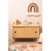 Meubel met 2 houten schuifdeuren Tulia Kids, miniatuur afbeelding 2